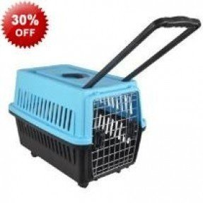 Cat carrier on wheels