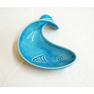 Ceramic fish dish vintage design retro