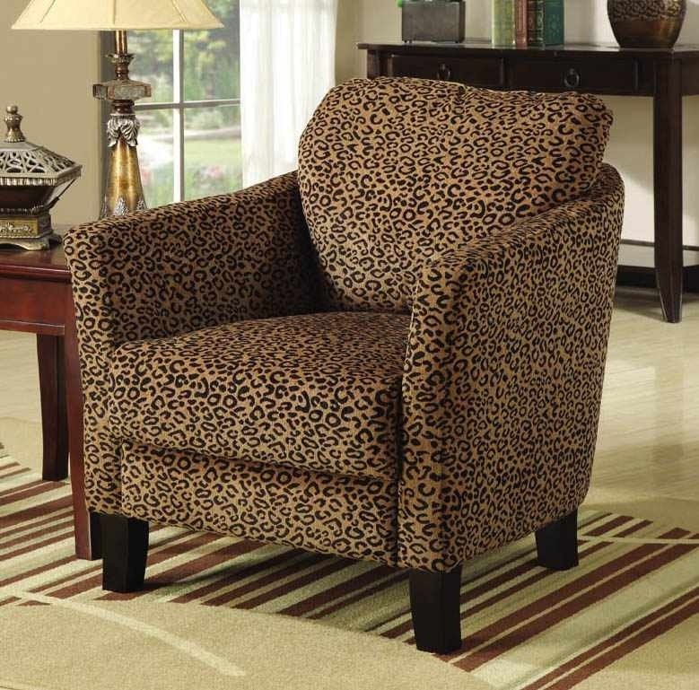 Cheetah print accent chairs