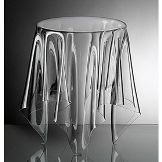 Clear acrylic end table 1