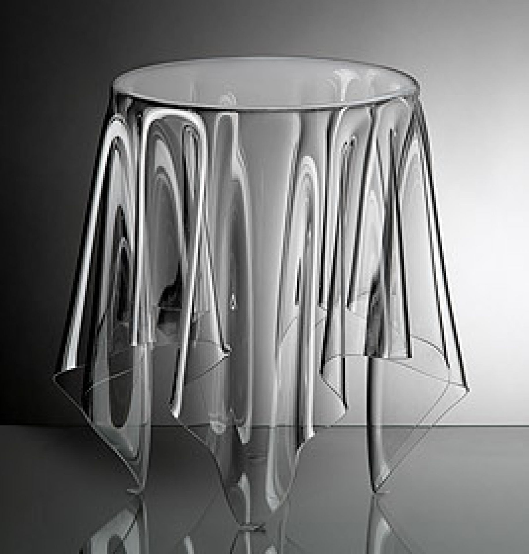 Bon Clear Acrylic End Table 1