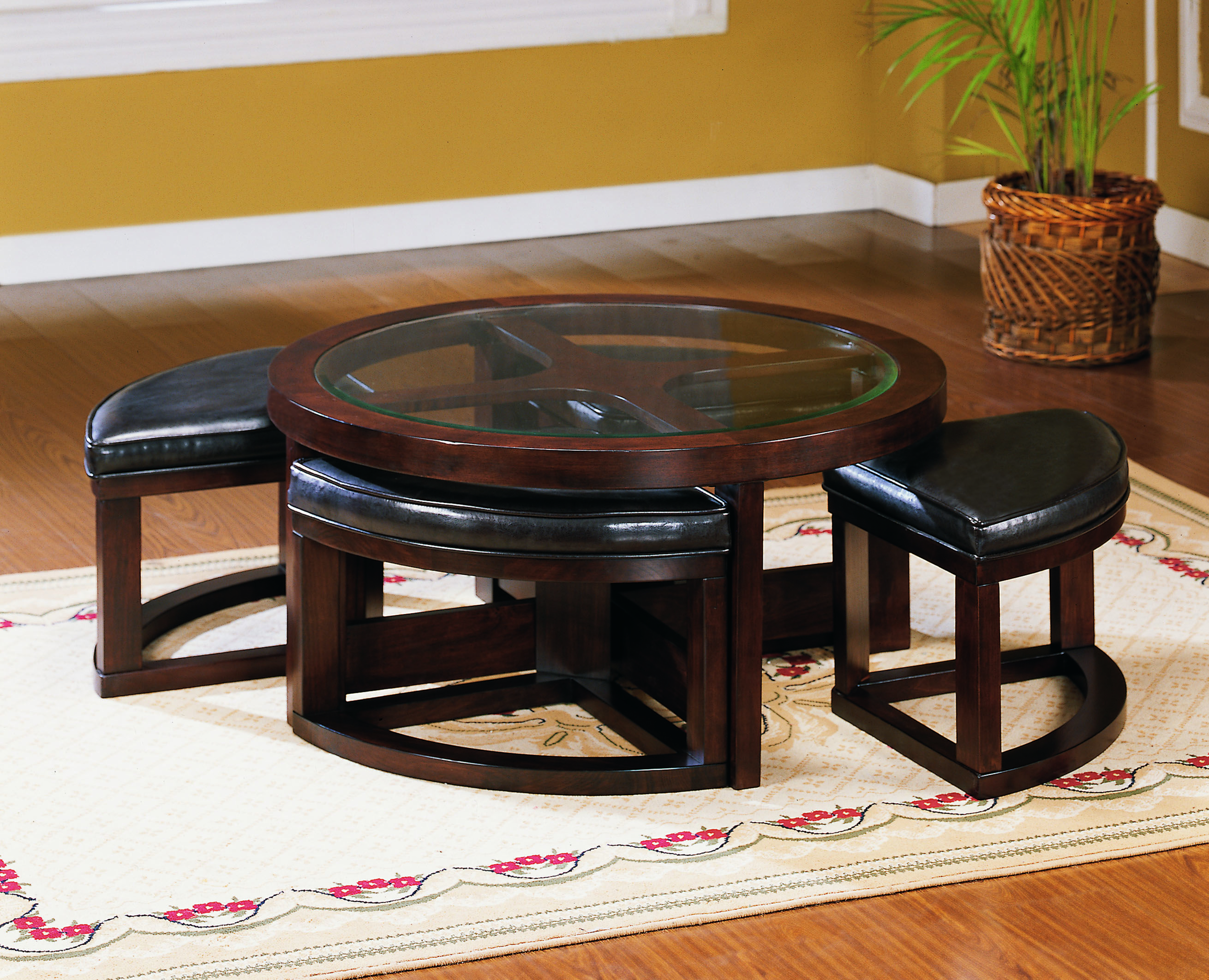 Exceptionnel Coffee Table With Pull Out Ottomans 1