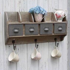 Corner Shelf With Hooks 20