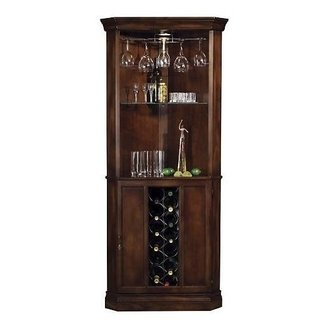 Corner wine glass cabinet