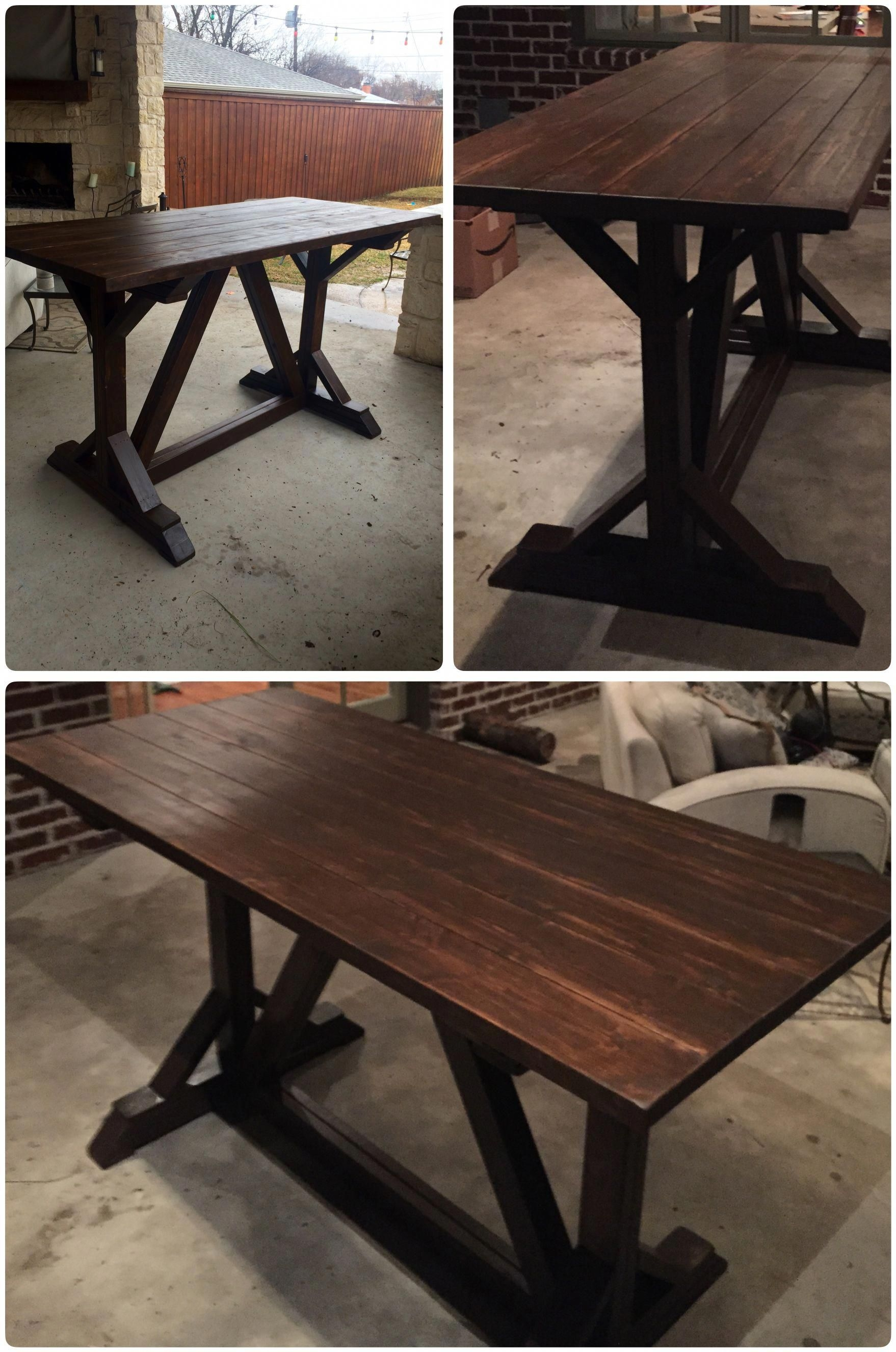 Attractive Counter Height Farm Table