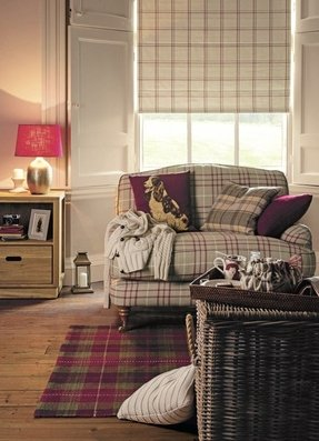 Plaid Living Room Furniture. Country style sofas Cottage Sofas  Foter