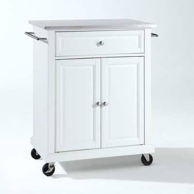 Crosley Kitchen Cart With Stainless Steel Top Wayfair 5