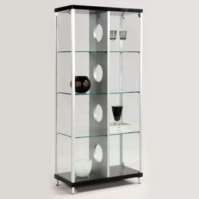 Display cabinet with lock