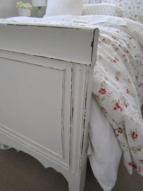 Distressed White Bed 1