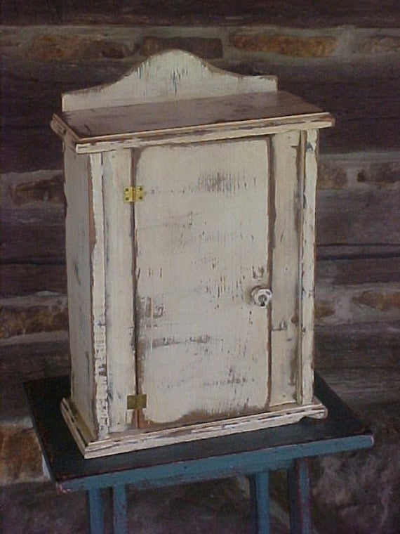 Distressed Wood Cabinet White Paint