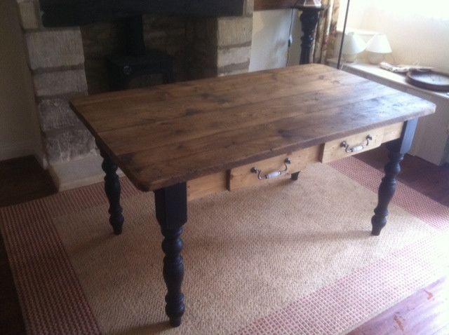 Distressed Wood Pub Table