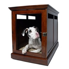 Dog crate night stand 12