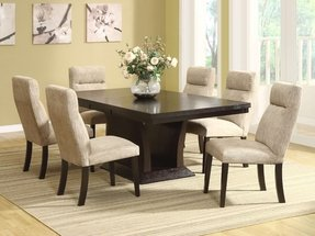 Espresso Pedestal Dining Table - Foter