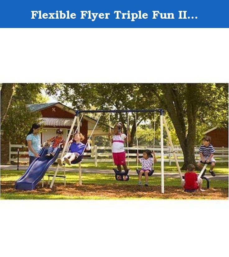 Flexible flyer triple fun ii swing set