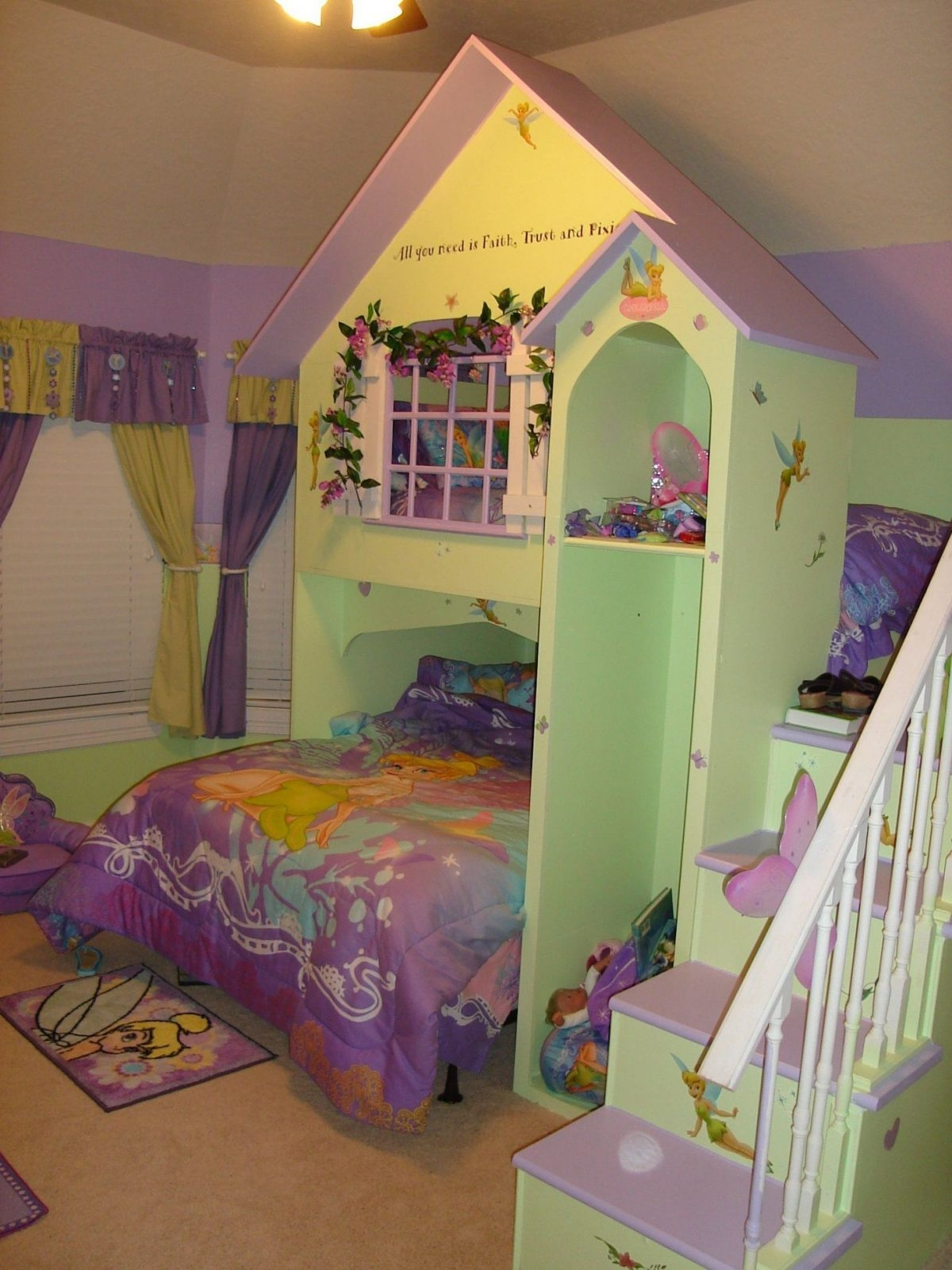 Girls dollhouse playhouse bed with slide kids las vegas
