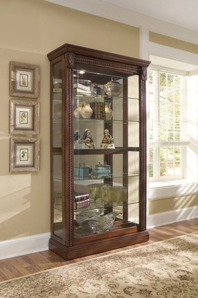 Glass cabinets with locks