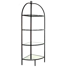 Grace collection 18 curved wrought iron corner bakers rack 1