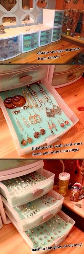 How to make a earring holder