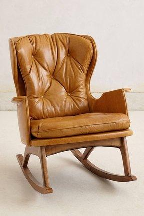 Awe Inspiring Modern Leather Rocking Chair Ideas On Foter Machost Co Dining Chair Design Ideas Machostcouk
