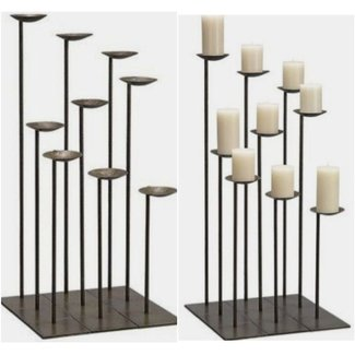 Iron floor candle holders 1