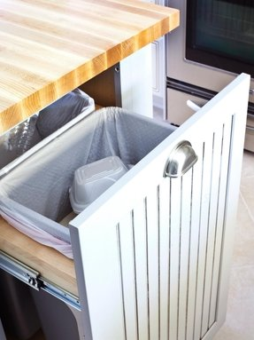 Garbage Can And Recycling Storage