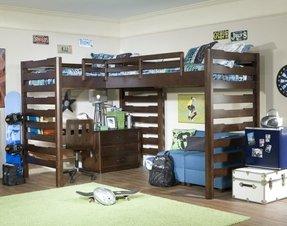 L Shaped Loft Bunk Beds