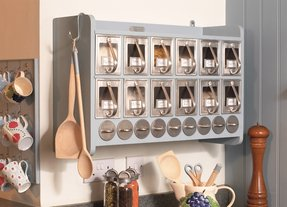 Large wall mounted spice rack