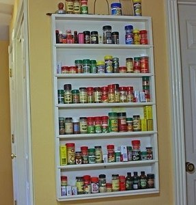 Large wall spice rack