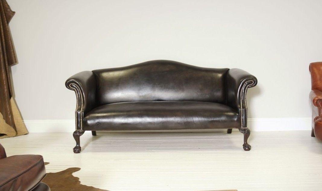 Leather Camel Back Sofa 6