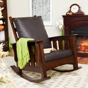 big sale 68d31 2b380 Modern Leather Rocking Chair - Ideas on Foter