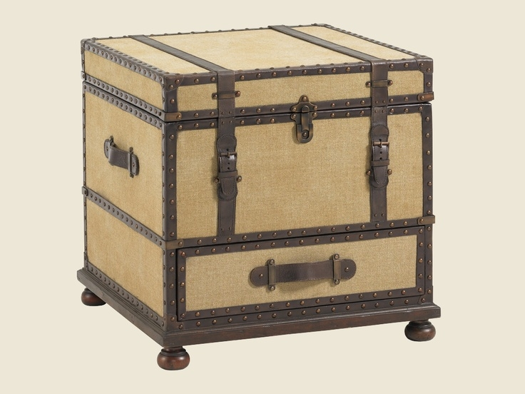 Leather Side Table Trunk