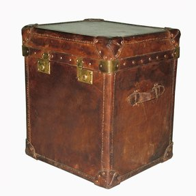 Leather trunk end table 3