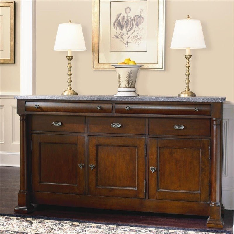 Marble top buffet sideboard