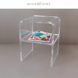 Mid century lucite waterfall side table
