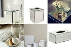 Mirrored Tissue Box Cover Foter