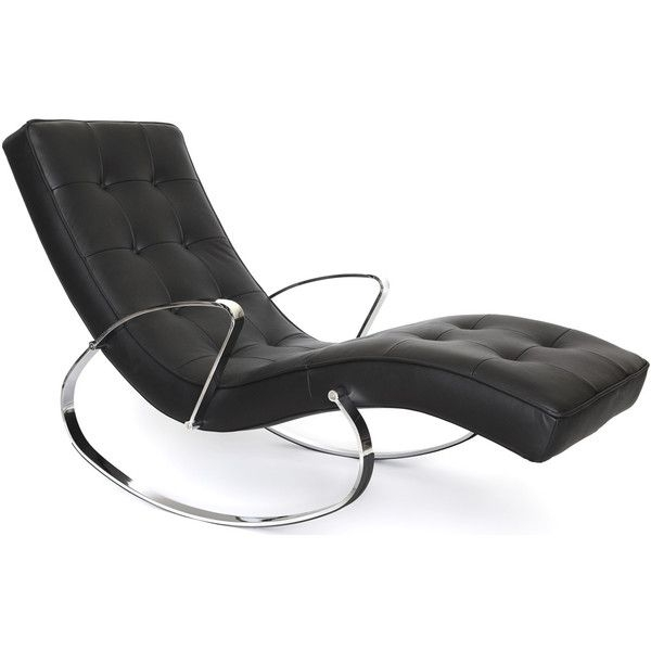 Modern Leather Rocking Chair 1
