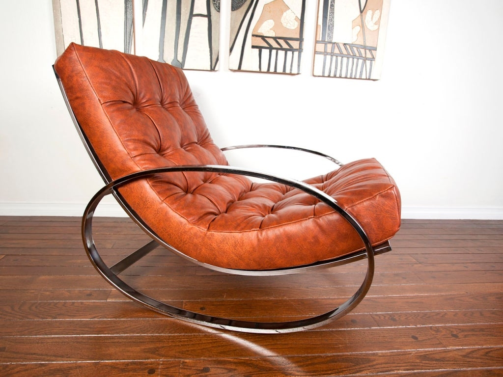 Modern Leather Rocking Chair 7