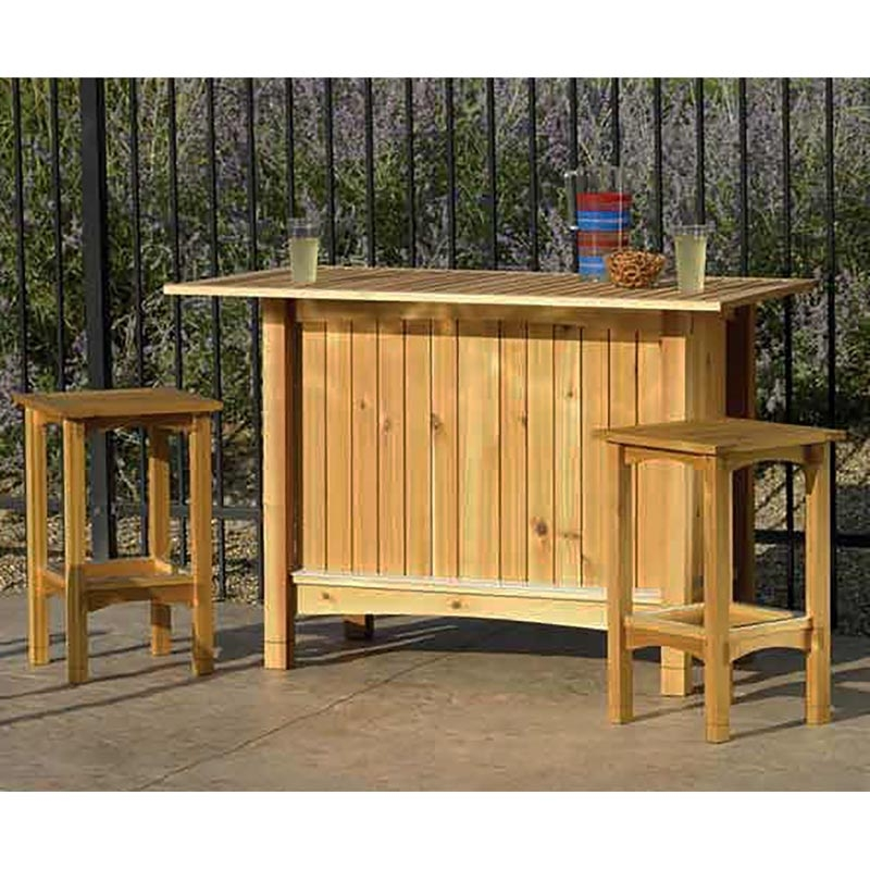 Perfect Outdoor Wooden Bar Stools 4