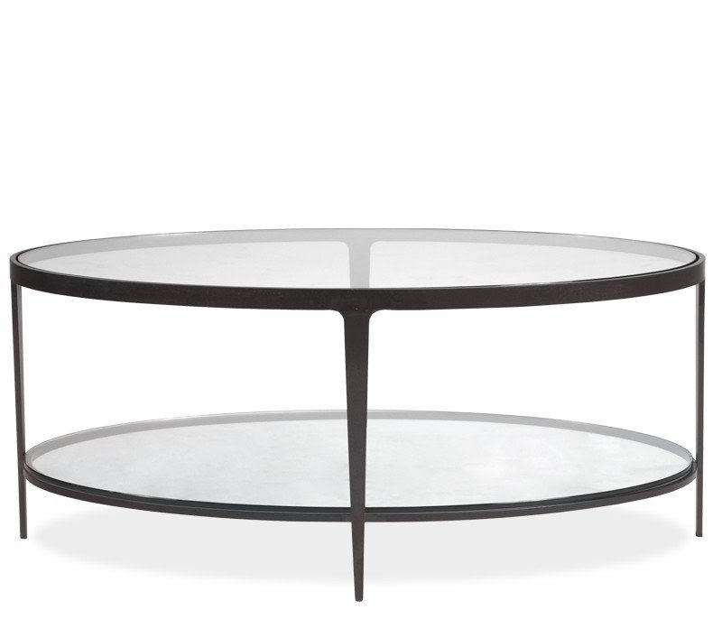 Charmant Oval Coffee Table With Storage