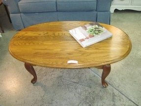 Oval oak coffee table