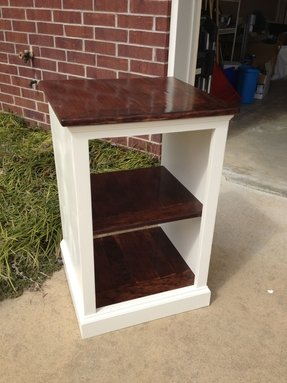 Painted and stained katie open shelf nightstand 3