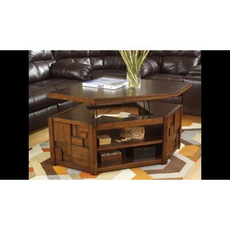 Pie Shaped Lift Top Coffee Table 6