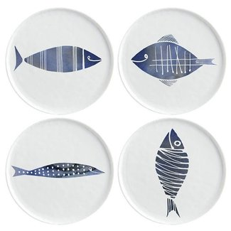 Plates with fish design