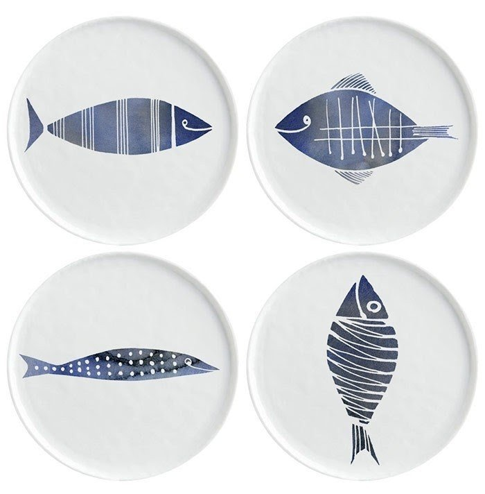 Plates with fish design  sc 1 st  Foter & Ceramic Fish Plates - Foter