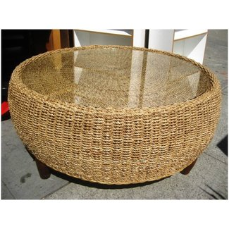 Astonishing Round Wicker Ottoman Coffee Table Ideas On Foter Cjindustries Chair Design For Home Cjindustriesco