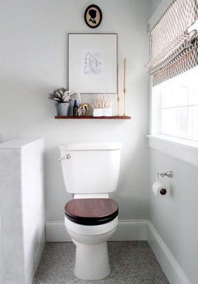 Shelf above toilet