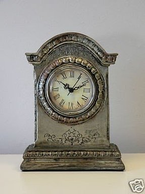 Silver mantel clock 1