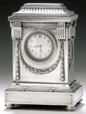 Silver mantel clock 2