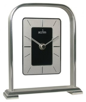 Silver mantel clock 8