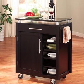Small kitchen cart with drawers 12